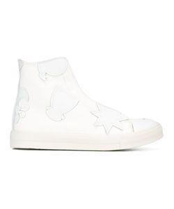 Alexander McQueen | Logo Patch Hi-Top Sneakers 43 Calf