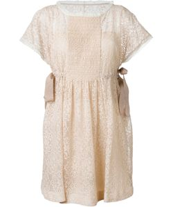Red Valentino | Side Tie Lace Dress