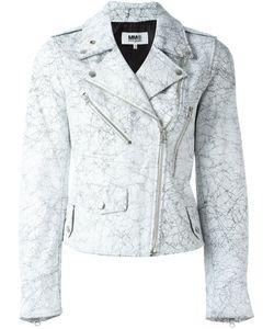 MM6 by Maison Margiela | Байкерская Куртка С Потрескавшимся Эффектом