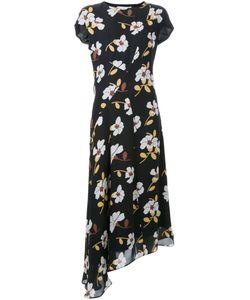 Marni | Асимметричное Платье С Цветочным Принтом