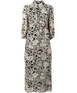 Saint Laurent | Платье-Рубашка С Цветочным Принтом