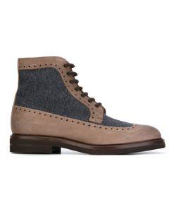 Brunello Cucinelli | Ботинки С Шерстяными Панелями