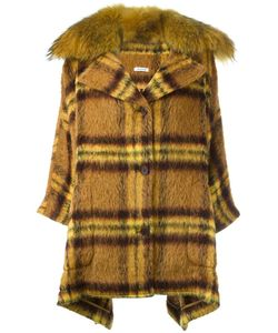 P.A.R.O.S.H. | Клетчатое Пальто С Оторочкой Из Меха