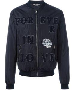 Dolce & Gabbana | Куртка-Бомбер С Нашивками