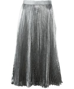 Christopher Kane | Lurex Pleated Skirt With Hotfix