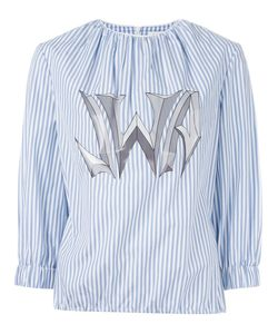 J.W. Anderson | Logo Print Striped Shirt