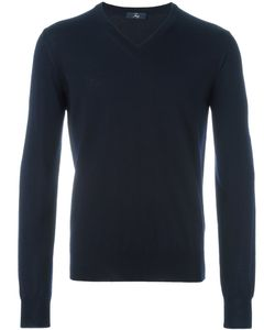 Fay | V-Neck Ribbed Sweater
