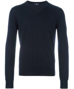 Fay | V-Neck Ribbed Sweater