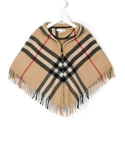 Burberry Kids | Пончо В Клетку