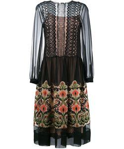 Alberta Ferretti | Прозраное Платье С Цветочной Вышивкой
