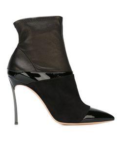 Casadei | Ботинки На Шпильке С Панельным Дизайном