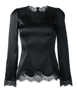 Dolce & Gabbana | Приталенная Блузка С Кружевной Отделкой