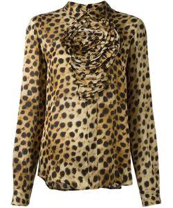Blumarine   Блузка С Леопардовым Принтом