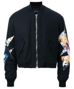 Almostblack | Укороченная Куртка-Бомбер С Нашивками