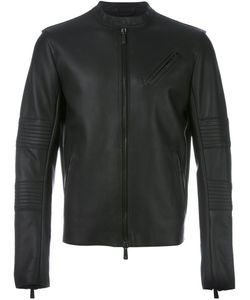 MARCELO BURLON COUNTY OF MILAN | Zipped Leather Jacket