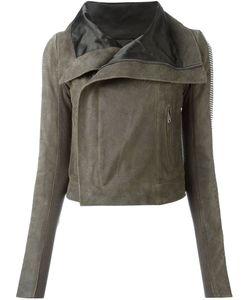 Rick Owens | Байкерская Куртка С Металлической Отделкой