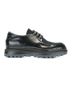 Giorgio Armani | Туфли На Шнуровке С Панельным Дизайном