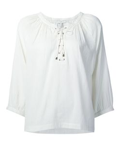 Joie | Lace-Up Neck Blouse