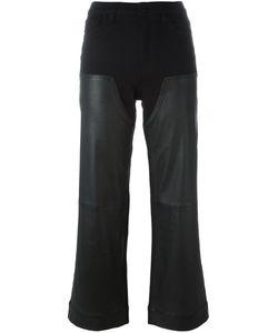 Givenchy   Укороченные Брюки С Кожаными Панелями