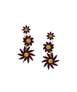 Elizabeth Cole | Swarovski Crystal Flower Drop Earrings
