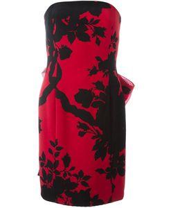 Christian Dior Vintage | Платье Без Бретелек С Цветочным Принтом