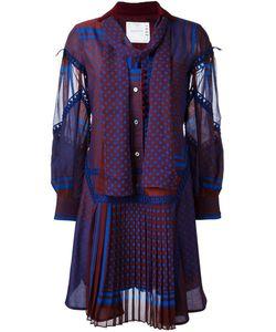Sacai | Платье С Узором И Оборками