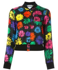 Moschino | Куртка-Бомбер С Цветочным Принтом