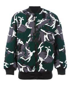 Ktz   Куртка-Бомбер С Камуфляжным Принтом