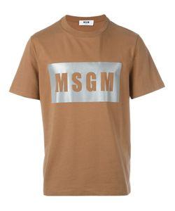 MSGM | Футболка С Принтом Логотипа