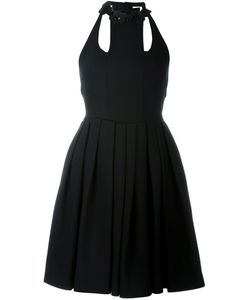 Fendi | Платье С Цветочной Аппликацией