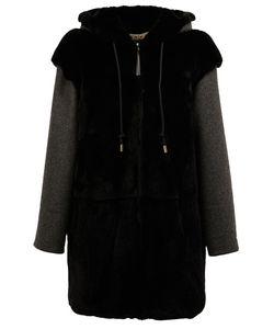 Marni | Пальто Из Кроличьего Меха С Капюшоном