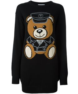 Moschino | Платье-Свитер С Принтом Плюшевого Медведя