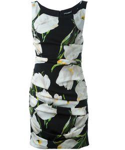 Dolce & Gabbana | Платье С Принтом Тюльпанов