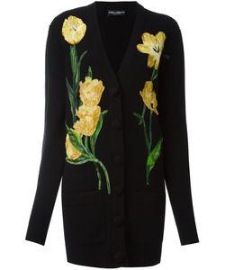 Dolce & Gabbana | Кардиган С Аппликацией Тюльпанов