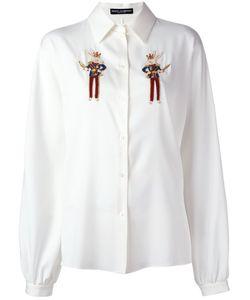 Dolce & Gabbana | Рубашка С Вышитыми Зайцами