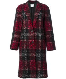 DKNY | Checked Leopard Embossed Coat