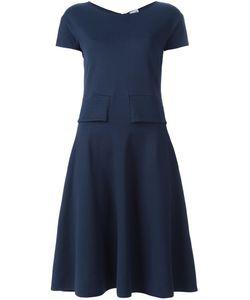 Armani Collezioni | Приталенное Платье С Короткими Рукавами