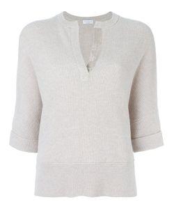 Brunello Cucinelli | V-Neck Slit Knitted Blouse