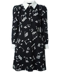 Saint Laurent | Платье-Рубашка С Принтом Нот