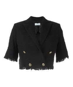 Sonia Rykiel | Cropped Frayed Tweed Jacket