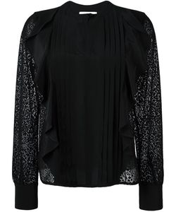 See By Chloe | See By Chloé Embroidered Panel Ruffled Blouse