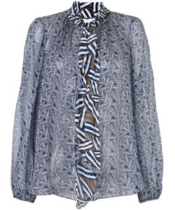 Diane Von Furstenberg | Блуза С Графическим Принтом И Рюшами