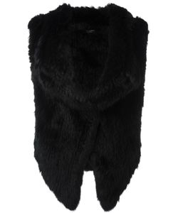 Yves Salomon   Куртка Из Кроличьего Меха Без Рукавов