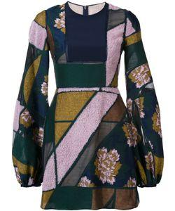ROKSANDA | Bell-Sleeve Patchwork Dress