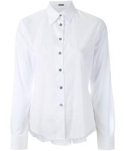 JOURDEN | Ruffled Detail Cropped Shirt