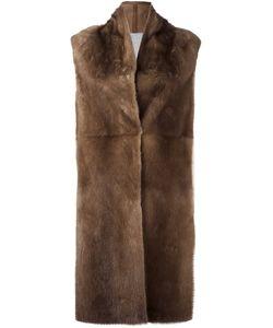 Liska | Пальто Из Меха Норки Без Рукавов