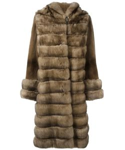 Liska | Меховое Пальто С Капюшоном