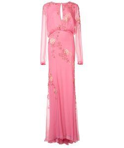 Monique Lhuillier | Платье С Цветочной Вышивкой
