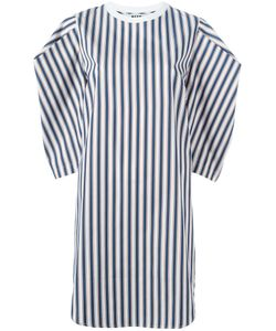 MSGM | Square Sleeve Striped Dress 42 Cotton