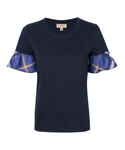 Burberry | Tulip Sleeve Check T-Shirt